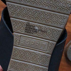 Esprit Shoes - Esprit Black Crisscross Slip On Sandals